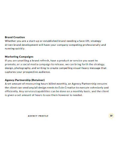 creative agency profile
