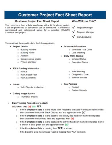 customer project fact sheet