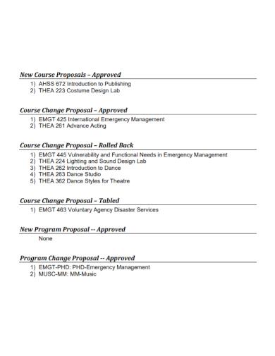 dance studio new course proposal