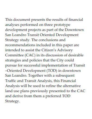 development financial feasibility analysis