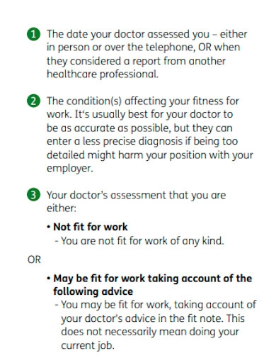doctors fit note for work