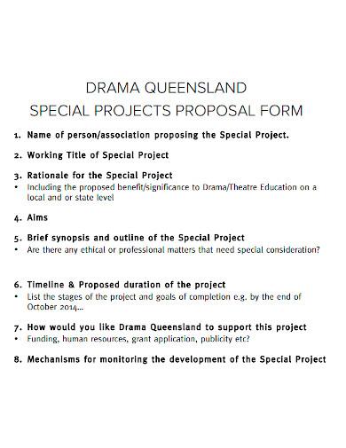 drama project proposal form