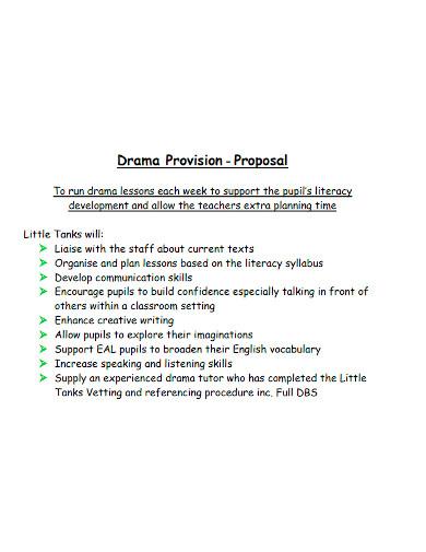 drama provision proposal