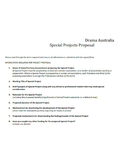 drama special project proposal
