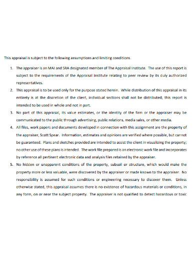 editable appraisal report