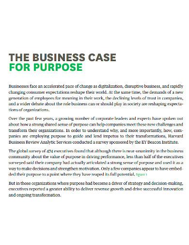 editable business purpose statement
