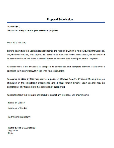 editable cleaning services proposal letter