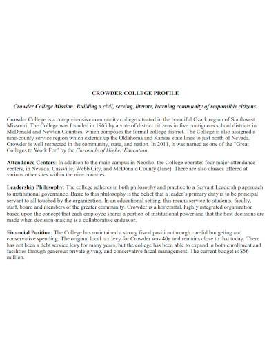editable college profile