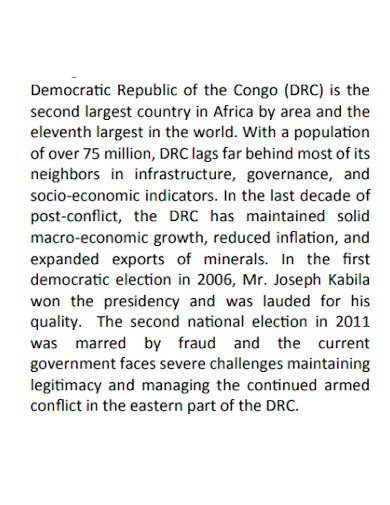 editable country fact sheet