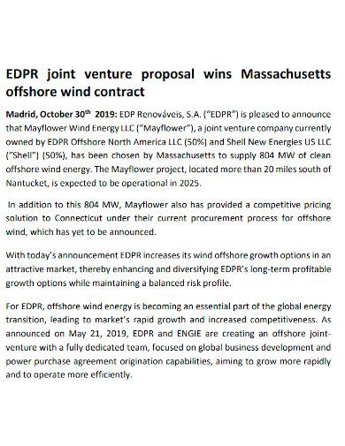 editable joint venture proposal