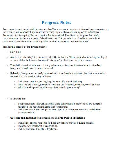 editable mental health progress note