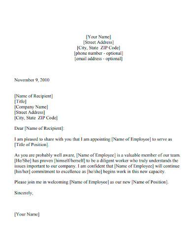 editable new hire announcement letter