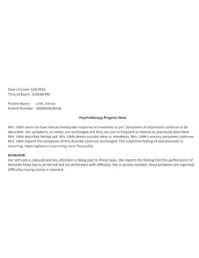 editable psychotherapy progress note
