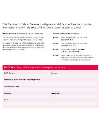 editable transition statement