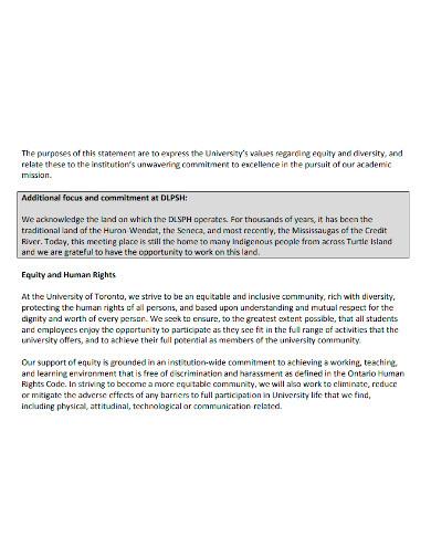 editable university equity statement