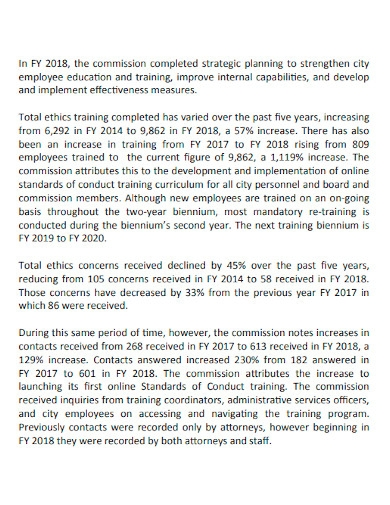 employee service efforts and accomplishment report