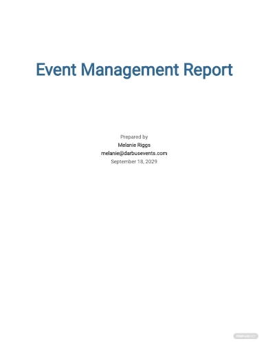 event management report template