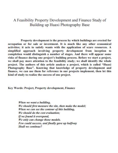 feasibility property development study