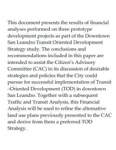 financial feasibility analysis