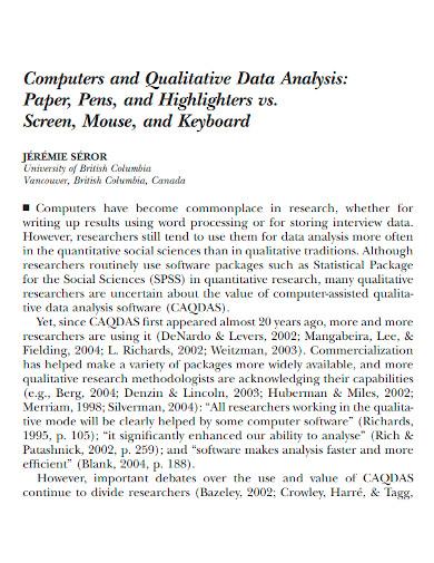 formal qualitative data analysis