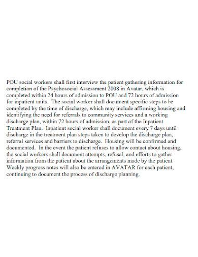 formal substance abuse discharge plan