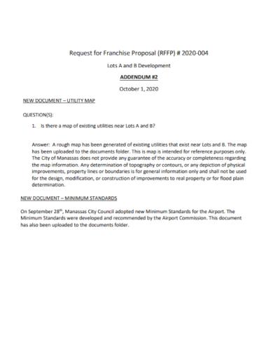 franchise development request for proposal