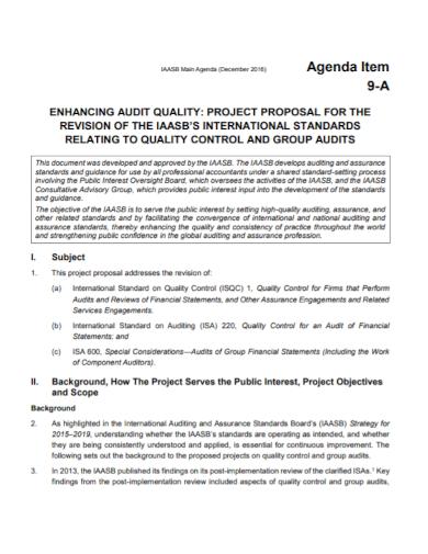 group audit project proposal