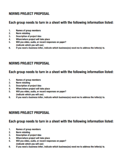 group norms project proposal