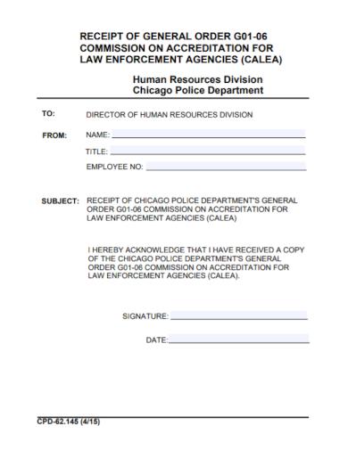 human resources commission receipt