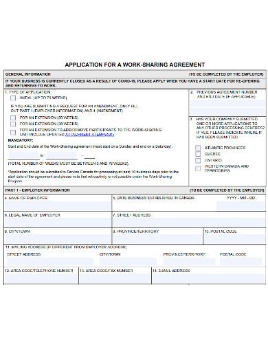 job sharing agreement application form