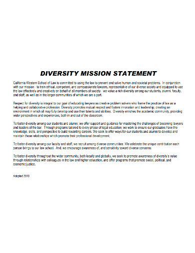 law school diversity mission statement