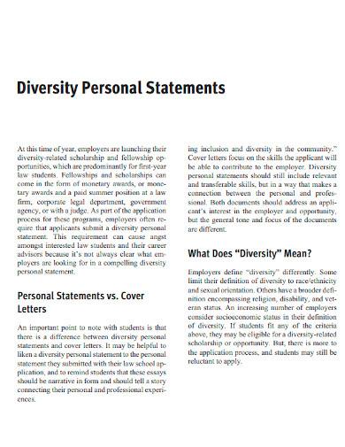 law school diversity personal statement