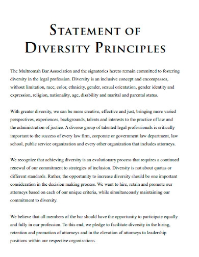 law school diversity principals statements