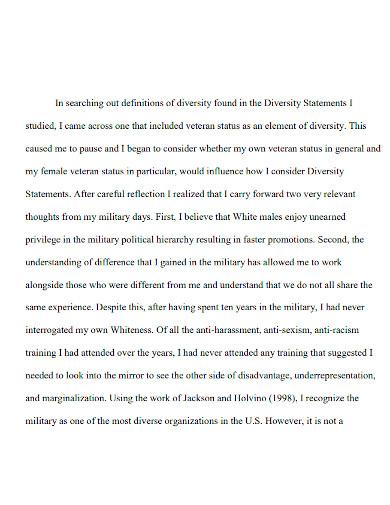 law school diversity statement format