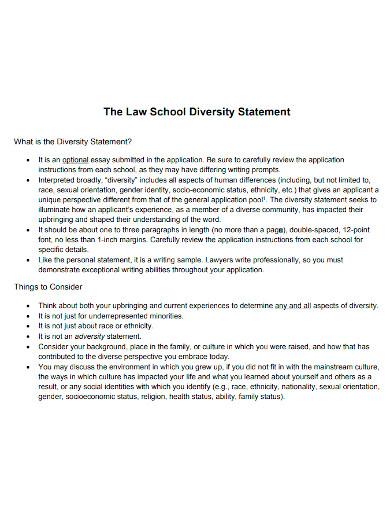 law school diversity statements
