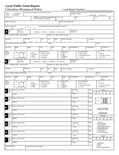 local traffic police accident report
