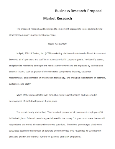 market business research proposal