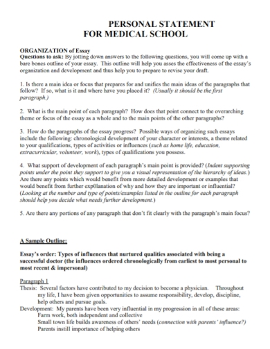 medical school essay personal statement