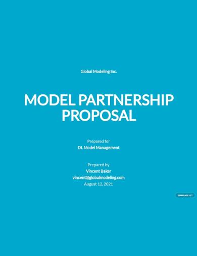 model partnership proposal template