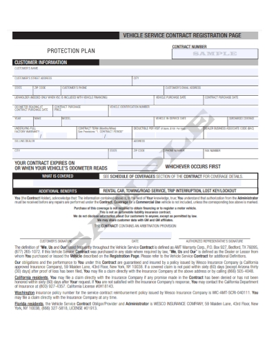 motor vehicle purchase sevice contract