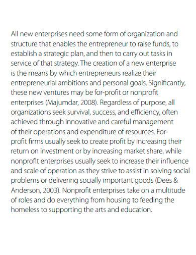 nonprofit enterprise feasibility analysis