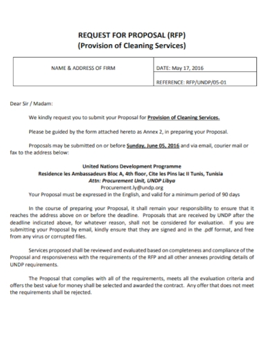 office provision cleaning proposal