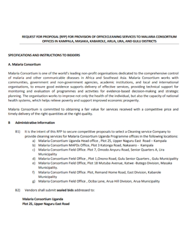office provision cleaning services proposal