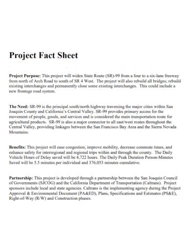partnership project fact sheet