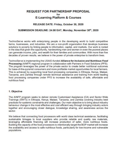 platform courses partnership request for proposal