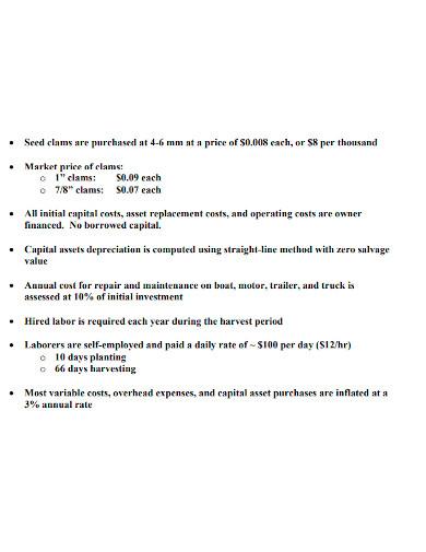preliminary financial feasibility analysis