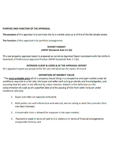 printable appraisal report
