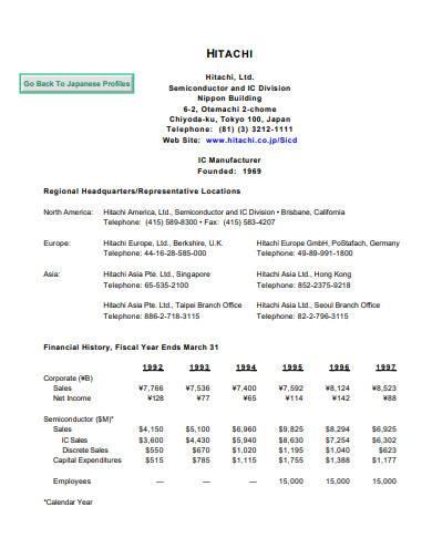 printable company profiles
