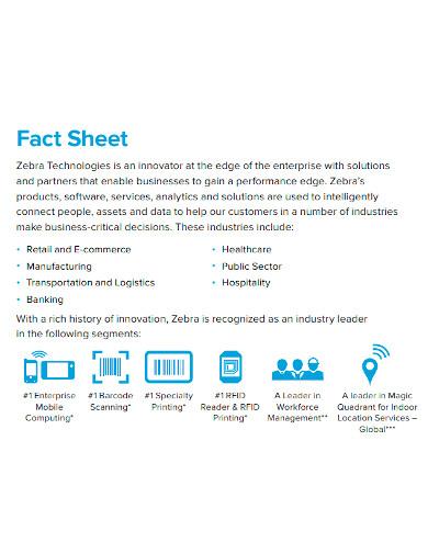printable corporate fact sheet