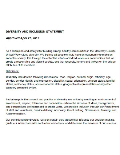 printable diversity and inclusion statement